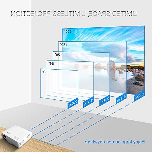 Crenova XPE660 Entertainment Projector Full HD - Create Vivid Native Resolution Gives Images