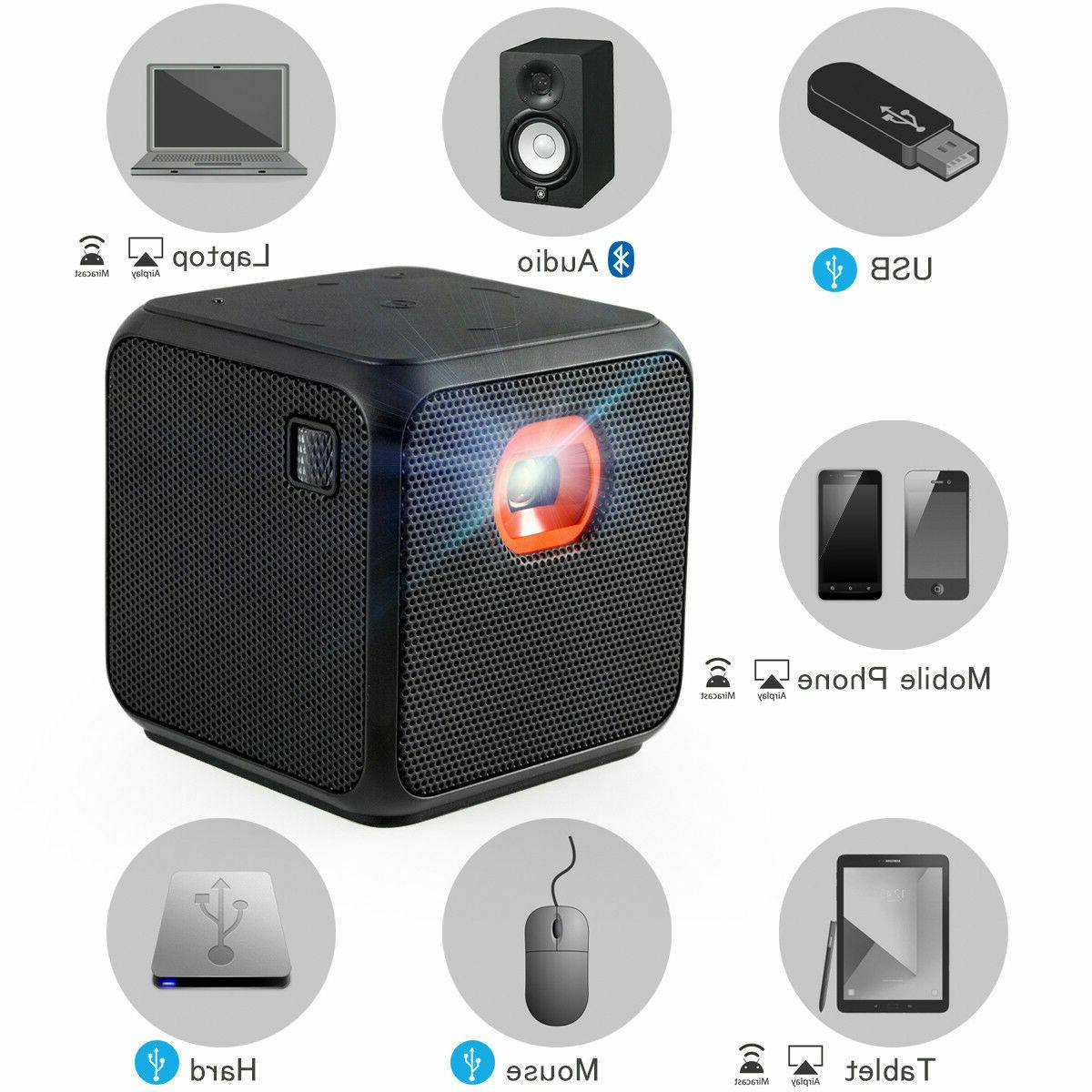 XPRIT Mini Projector Theater Bluetooth Portable Android 7.1
