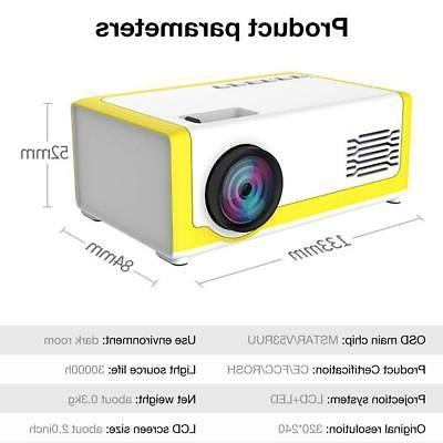YG300 Projector 3D Cinema 1080P HDMI Projector