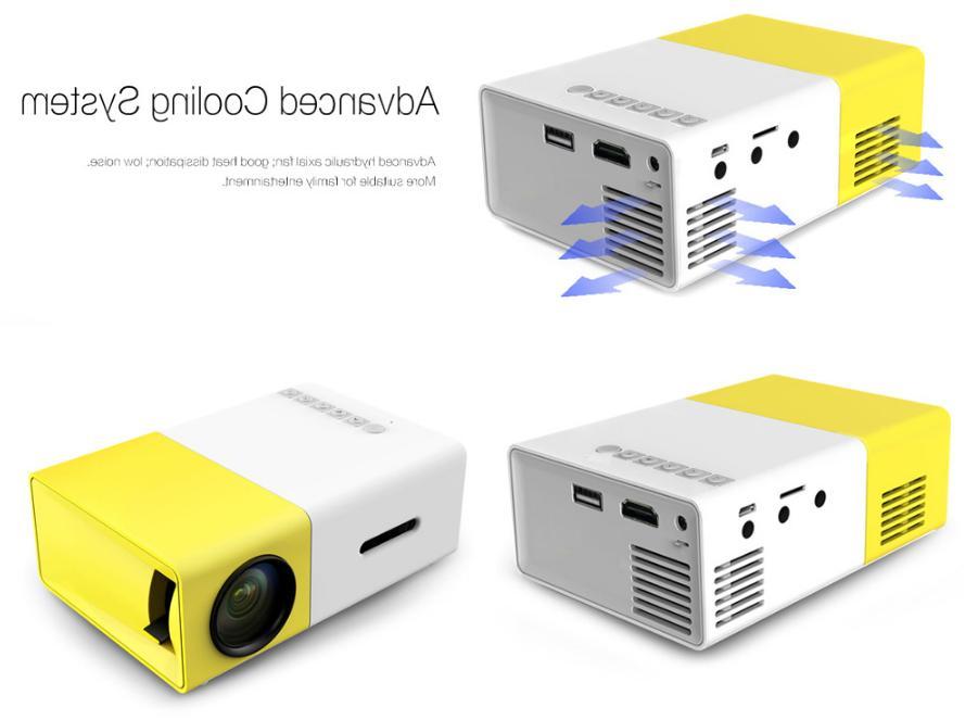 YG-300 USB HDMI Mini 1300mAh Li-battery