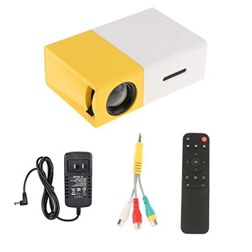 MagiDeal Projector 600LM 320 x YG-300 USB Home Media Yellow