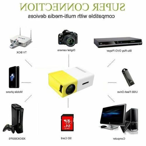 YG300 Cinema USB SD Mini Portable HD LED Projector