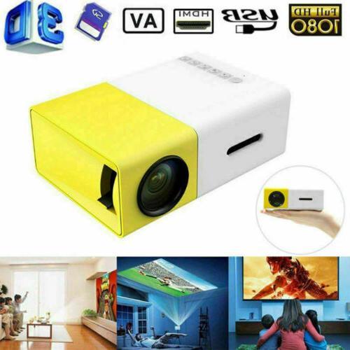 Mini Pocket YG300 LED Projector 1080P Home Theater Cinema Mu