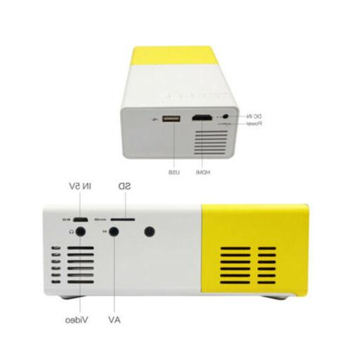 YG300 Mini Multimedia LCD Projector 1080P Home Theater USB