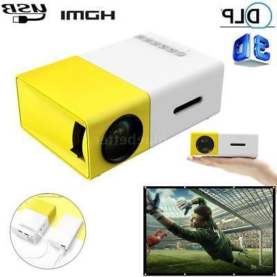 yg300 mini portable multimedia led projector full