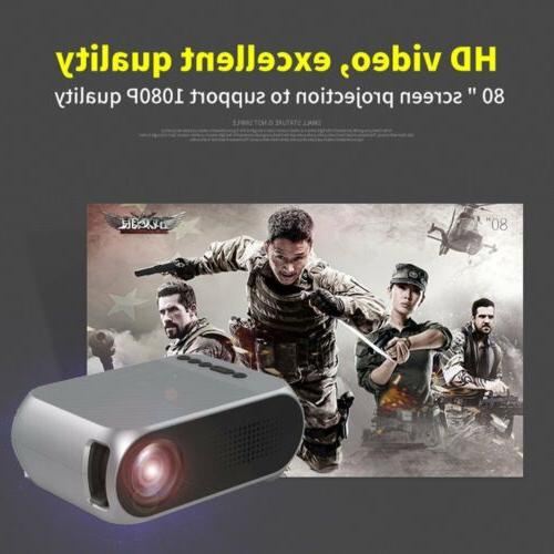 Portable Mini WIFI 1080P HD LED Projector Home Theater
