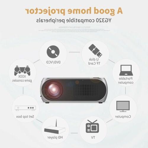 YG320 Portable Mini 3D 600 LED Projector HDMI/USB/AV
