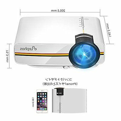 ELEPHAS YG400 LED Video Projector 1500 1080P