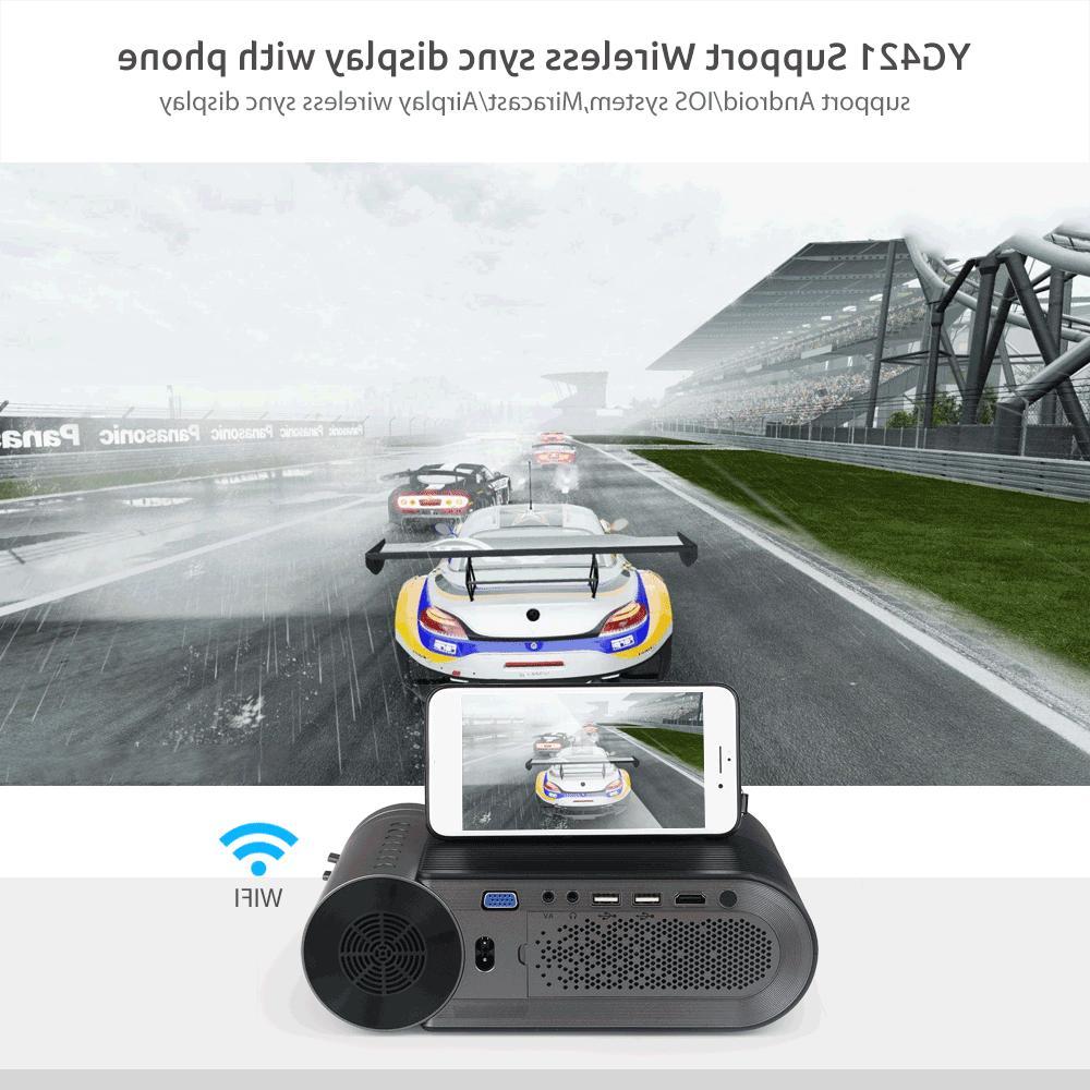 AAO 720P Native 1280x720 Portable Wireless Screen Video Beamer 3D VGA Proyector