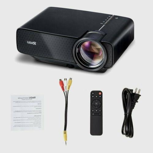 RAGU Z400 Mini Projector Portable Movie Theater Home 70% Bri
