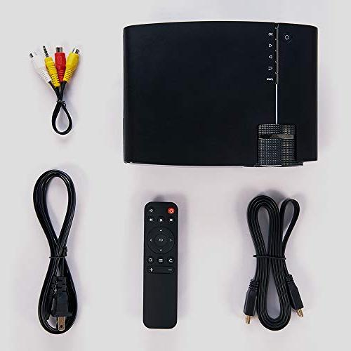 "RAGU 2019 Upgraded 1080P 180"" 50,000 Hrs Movie Projector for with HDMI/VGA/USB/AV/SD"