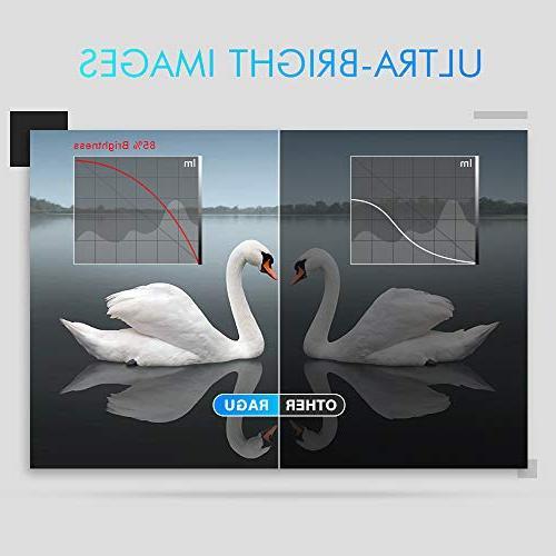 RAGU Z400 2019 1080P 50,000 Home Projector for HDMI/VGA/USB/AV/SD