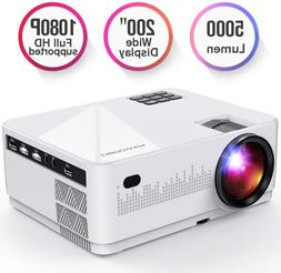 DBPOWER L21 LCD Video Projector, Upgraded 5000L 1080P 1920x1