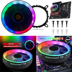 RGB LED CPU Cooler Fan Aluminum Heatsink For Intel LGA 1156/