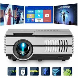 LCD Portable Mini Android Wifi Movie Projector Bluetooth 108