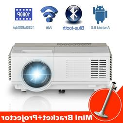 Caiwei HD Android Projector Home Theater Blue-tooth WIFI LED