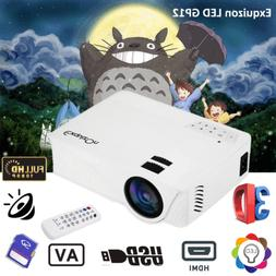 LED/LCD 7000 Lumens Mini Projector 3D Full HD 1080P Home The
