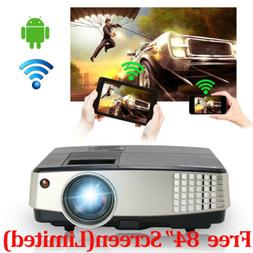 LED Mini Android WiFi Projector Portable Smart Home Theater