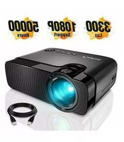 LED Mini Projector ELEPHAS 3300 Lux Portable Projector Suppo