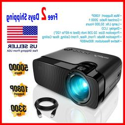 led mini projector portable hd 1080p multimedia