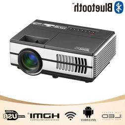 2800lms EUG Mini LED Projector Bluetooth WiFi Android HD for