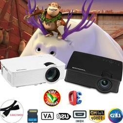 LED VIDEO PROJECTOR 7000LUMEN 3D 1080P HD MULTIMEDIA HOME CI