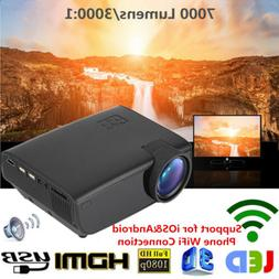 Mini 1080P Full HD LED Projector Home Theater Cinema 3D HDMI
