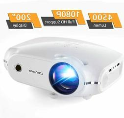 Mini HD Video Projector 1080P-Supported 720P-Native 4500Lux