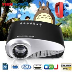 MINI 1080P HD 3D LED Projector Home Theater Cinema for Iphon