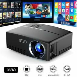 Mini 1080P HD Multimedia LED Projector Home Theater Cinema H