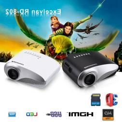 MINI PICO LED Projector HD 1080P Multimedia Home Cinema Thea