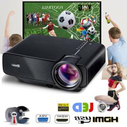 RAGU Mini 1080P Projector Home Cinema HDMI Video VGA AV TV G