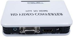 Mini 1080P VGA to HDMI HD HDTV Audio Video Projector Convert