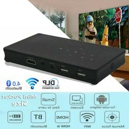 Mini 3000Lumens DLP Android 7.1 Wifi Home Theater Projector