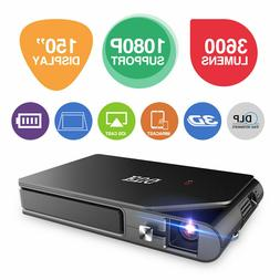 EUG Mini 3D DLP Projector Wirelessly Synchronize for Android