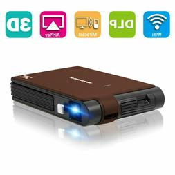 3600lms 3D WIFI Projector Wireless Mini Home Theater DLP Scr