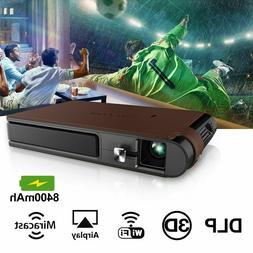 Mini 3D HD WIFI Projector Wireless Mirroring Video Home Cine