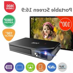 Mini 3D Projector WiFi Home Theater Synchronize Smart Phone