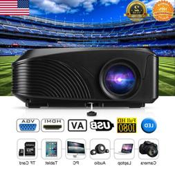 Mini 5000 Lumen 1080P 3D LED Projector Home Theater Multimed