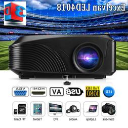 Mini 5000 Lumens 1080P FHD 3D LED Projector Home Movie Theat