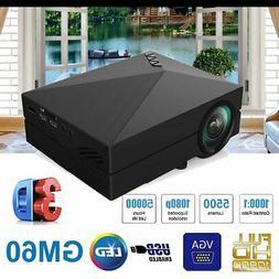 MINI 5000LUMEN 3D 1080P HD LED VIDEO PROJECTOR HDMI/USB/SD/A