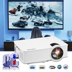 mini 5000lumens 1080p fhd led lcd projector