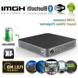 Mini 5500Lumens DLP 4K HD Projector Android Wifi Bluetooth H