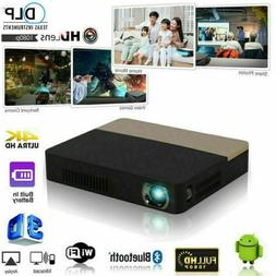 Mini 8500 Lumen DLP 3D 4K Home Theater Projector Android Wif