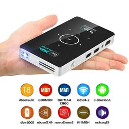 Mini Android 6.0 Portable Smart DLP Projector 8GB Wifi Bluet