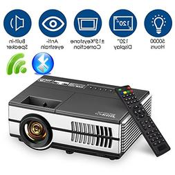 Wireless Mini Projector with WiFi Bluetooth HDMI LCD LED Por