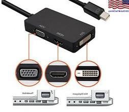 Mini DisplayPort DP to HDMI VGA DVI Converter For Microsoft