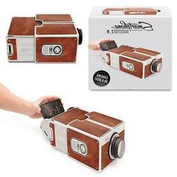 Mini DIY Cardboard Movie Projector Portable Cinema For Andro