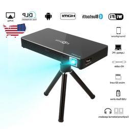 Mini DLP Bluetooth WIFI Portable Projector 1080P HDMI USB TF