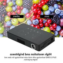 Mini DLP LED Projector 1080P Android 6.0 Wifi Bluetooth HDMI